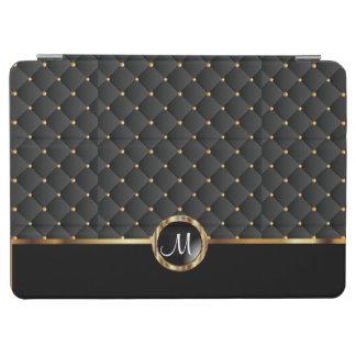 Elegant Black Texture and Gold Pattern - Monogram