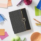 Elegant Black Texture and Gold Pattern - Monogram iPad Cover