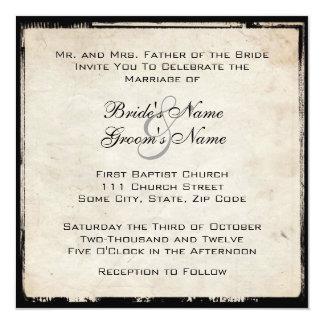 Elegant Black Wedding Invitation