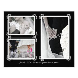 Elegant Black/White 11 x 14 Wedding Photo Collage