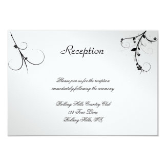 Elegant Black White Floral Gay Wedding Reception Custom Invite