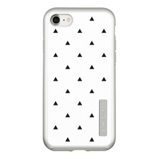 Elegant black white geometric pattern | triangles incipio DualPro shine iPhone 8/7 case