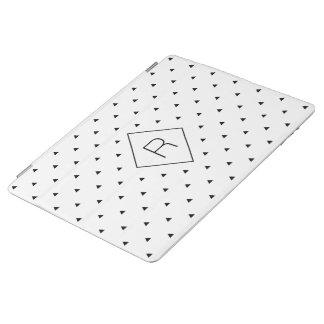 Elegant black white geometric pattern | triangles iPad cover