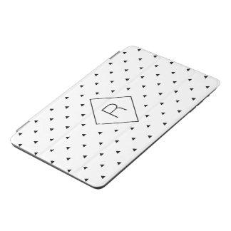 Elegant black white geometric pattern | triangles iPad mini cover