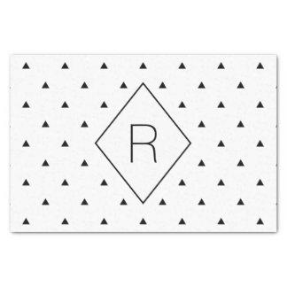 Elegant black white geometric pattern   triangles tissue paper