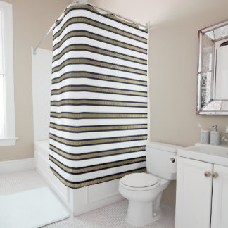 Elegant Black White Gold Sepia Stripes Lines