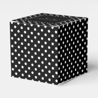 Elegant black & white polkadot wedding favor boxes