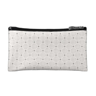 Elegant Black White Small Dots Pattern Cosmetic Bag