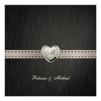 Elegant Blank Damask Monogram Wedding Invites