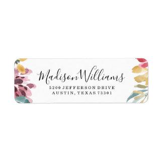 Elegant Blossoms | Return Address Labels