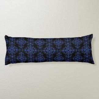 Elegant Blue and Black Damask Style Pattern Body Pillow