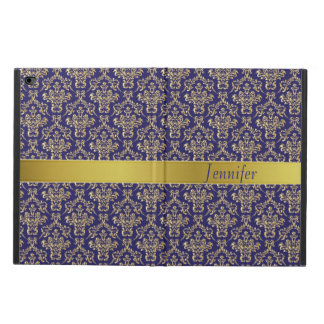 Elegant Blue and Gold iPad Air 2 Case