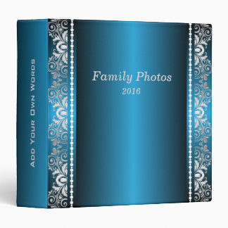Elegant Blue and Silver Lace Binders