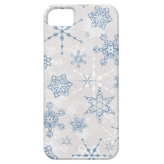 Elegant Blue and Silver Winter Snowflake iPhone 5 Case