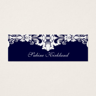 Elegant Blue and White Baroque Business Card