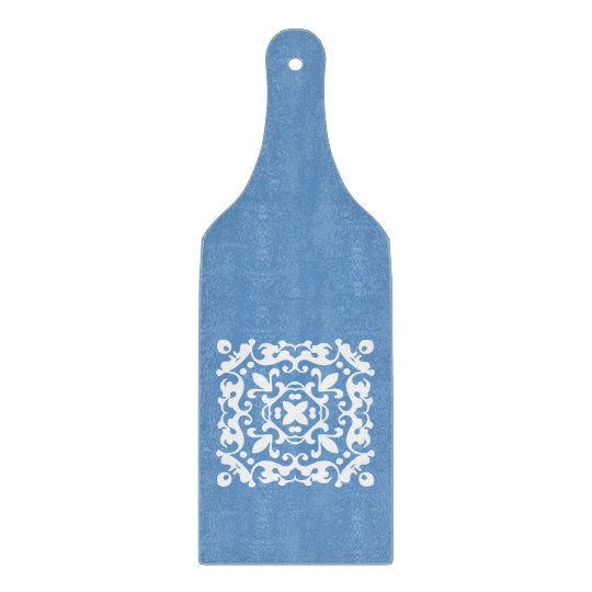 Elegant Blue and White Country Kitchen Cutting Board