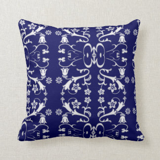 Elegant Blue Batik Pillow
