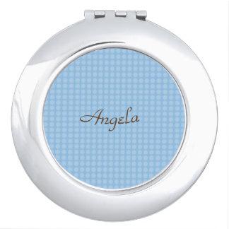 Elegant_Blue-Bridal__Celebration-Giftware_Monogram Compact Mirrors