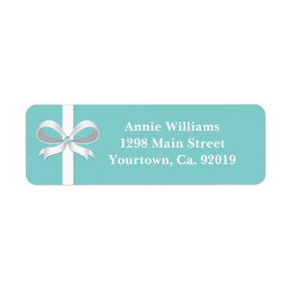 Elegant Blue Bridal Shower Return Address Return Address Label