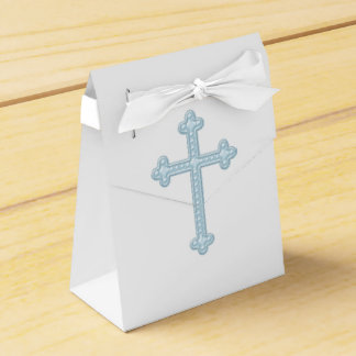 Elegant Blue Cross First Communion Favor Box