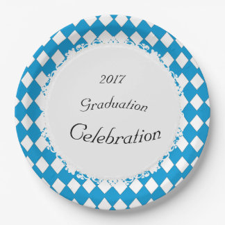 Elegant-Blue-Diamond-Celebration(c)TEMPLATE Paper Plate