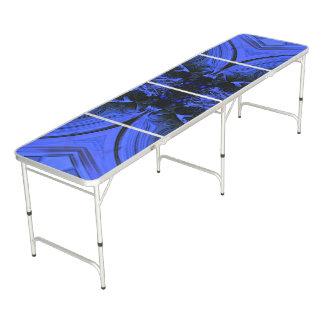 Elegant Blue Digital Design Pong Table