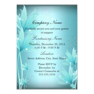 Elegant Blue Floral Fundraiser Invitation