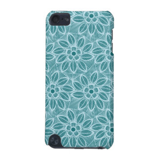 Elegant Blue Floral Lace Pattern iPod Touch (5th Generation) Cases