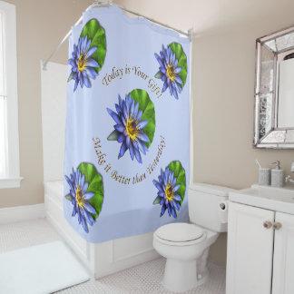 Elegant Blue Floral Lotus Water Lily Flower