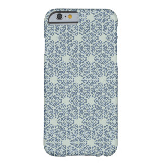 Elegant blue floral Pattern Barely There iPhone 6 Case