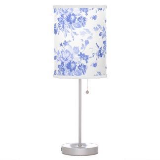 Elegant Blue Floral Pattern Table Lamp