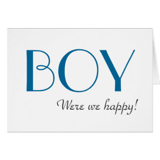 Elegant Blue Gender Reveal Thank You Card