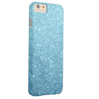 Elegant Blue Glitter Luxury Barely There iPhone 6 Plus Case
