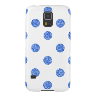 Elegant Blue Glitter Polka Dots Pattern Case For Galaxy S5