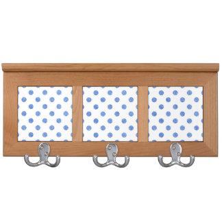 Elegant Blue Glitter Polka Dots Pattern Coat Racks