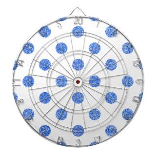 Elegant Blue Glitter Polka Dots Pattern Dartboard