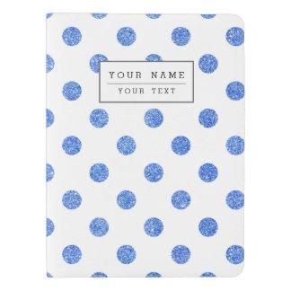 Elegant Blue Glitter Polka Dots Pattern Extra Large Moleskine Notebook