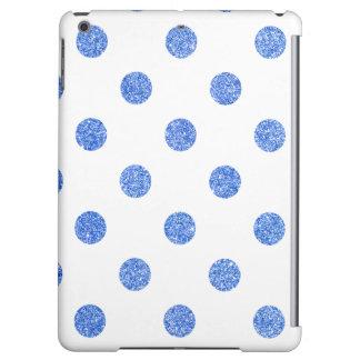 Elegant Blue Glitter Polka Dots Pattern iPad Air Cases
