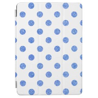 Elegant Blue Glitter Polka Dots Pattern iPad Air Cover
