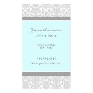 Elegant Blue Gray Damask Business Cards