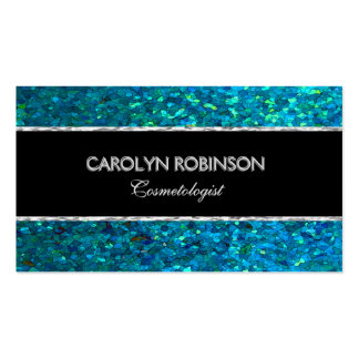 Elegant Blue Green Glitter Pack Of Standard Business Cards