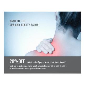 Elegant Blue Grey Photo Massage Therapist Flyer