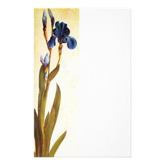 ELEGANT BLUE IRIS Floral Stationery