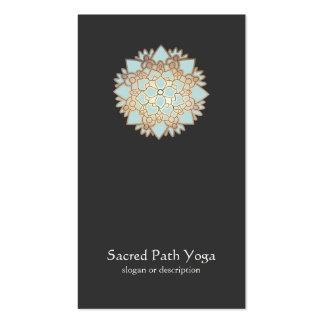 Elegant Blue Lotus Flower Mandala Business Card