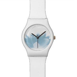 Elegant Blue Lotus Flower Wrist Watches