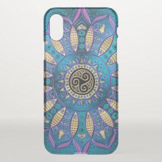 Elegant Blue Mandala Celtic Knot iPhone X Case