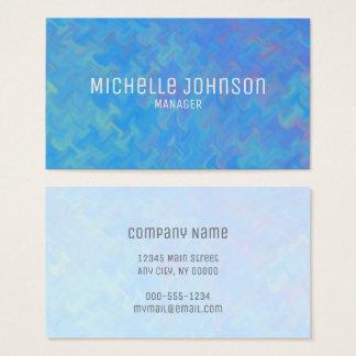 Elegant Blue Marbling Professional Look Business Card