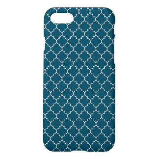 Elegant blue moroccan Pattern iPhone 7 Case