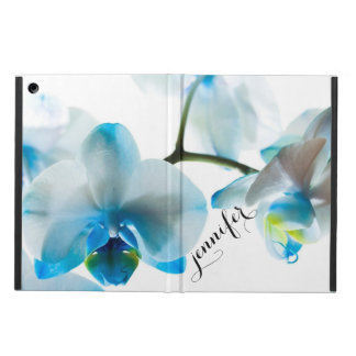 Elegant Blue Orchids Tropical Floral Personalized iPad Air Case