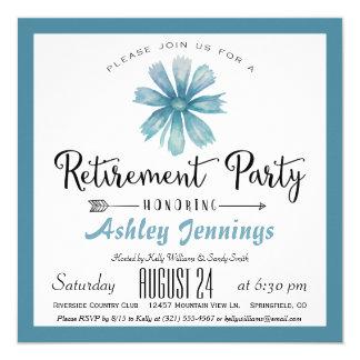 Elegant Blue Retirement Party Invitation